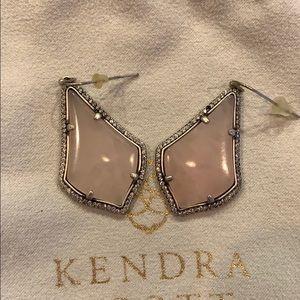 Kendra Scott Alex Lux Rose Quartz Earrings